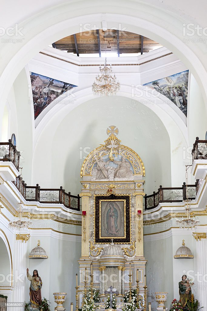 Our Lady of Guadalupe, Puerto Vallarta, Mexico, Church stock photo