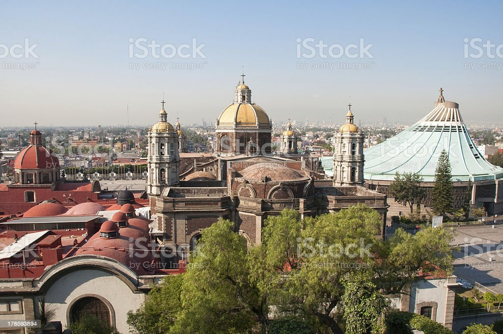 Our Lady of Guadalupe sanctuary in Mexico city royalty-free stock photo