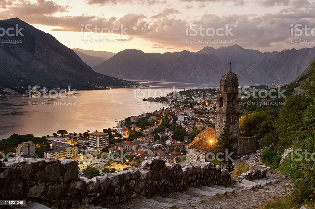 Our Lady of Health Church - Kotor stock photo