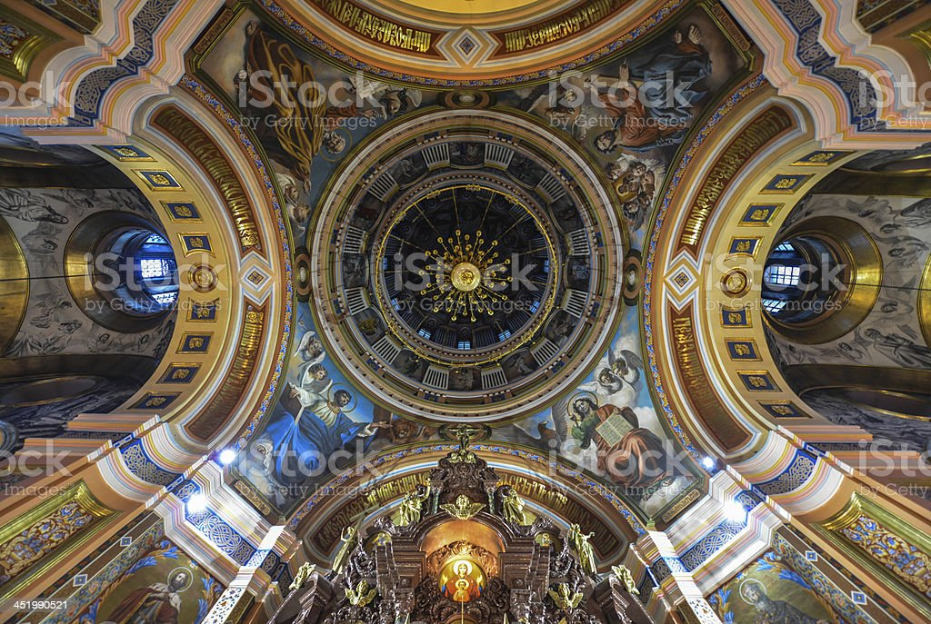 Our Lady of Kazan Church, Irkutsk stock photo