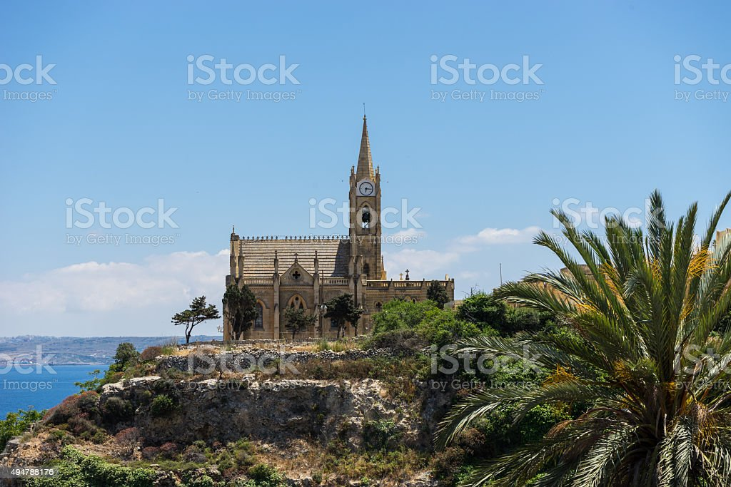 Our Lady of Lourdes church stock photo