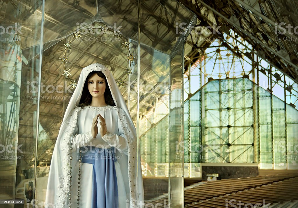 Our Lady of Lourdes royalty-free stock photo