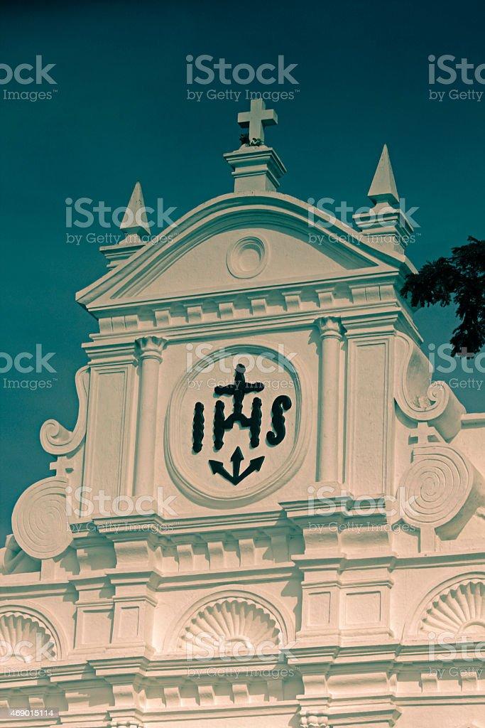 Our Lady of Merces Church Colva, Goa, India stock photo