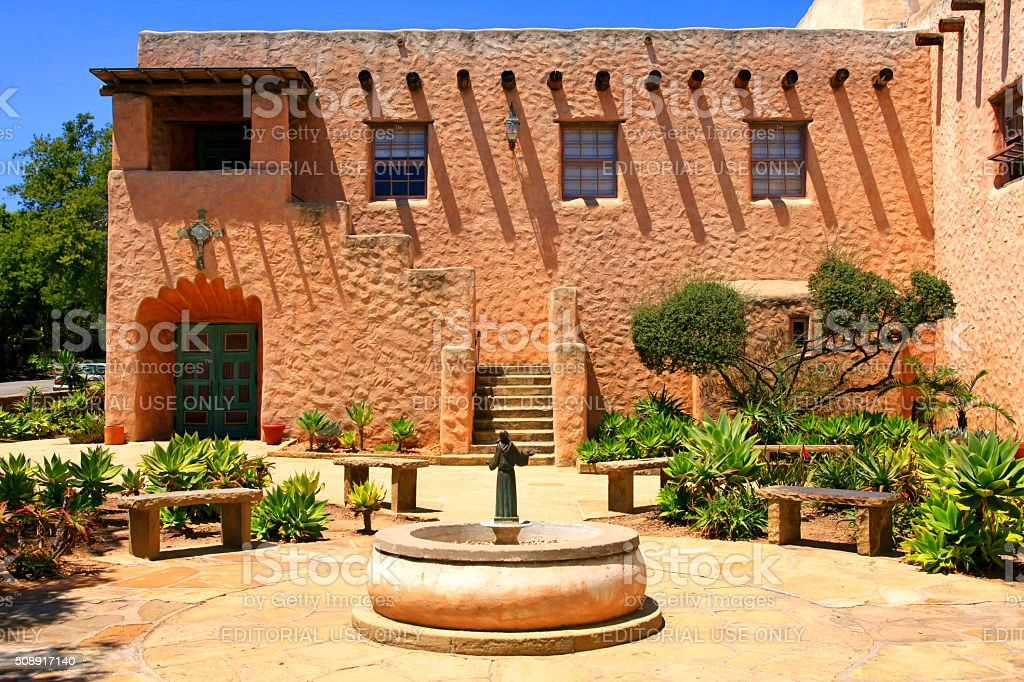 Our Lady of Mount Carmel Catholic Church in Montecito,  California stock photo