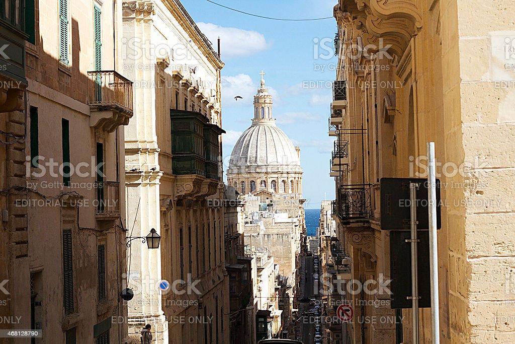 Nostra Signora di Monte Carmelo, La Valletta, Malta foto stock royalty-free