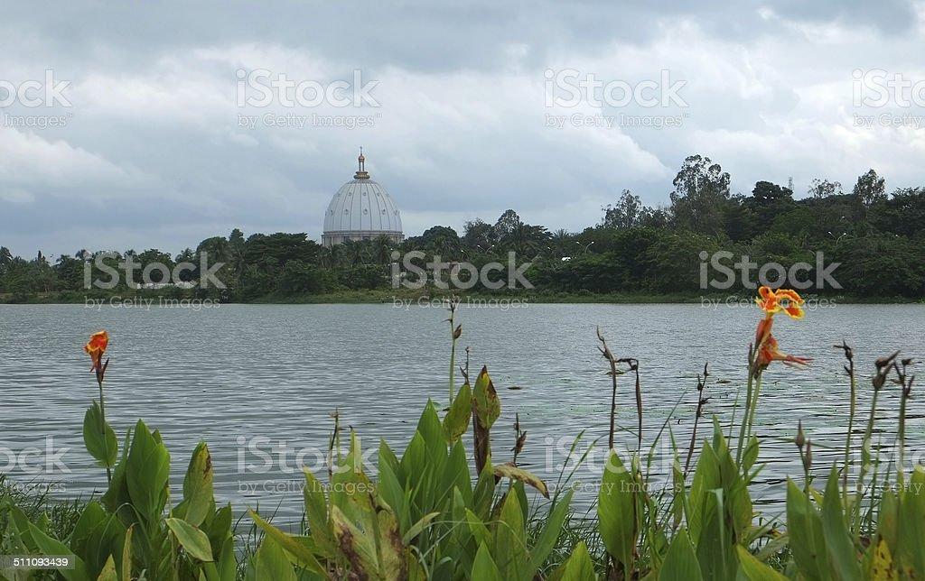 Our Lady of Peace Basilica - Yamoussoukro stock photo
