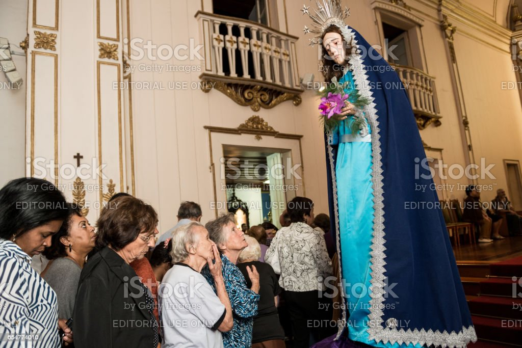 Our Lady of Sorrows in Good Friday, Rio de Janeiro State, Brazil stock photo