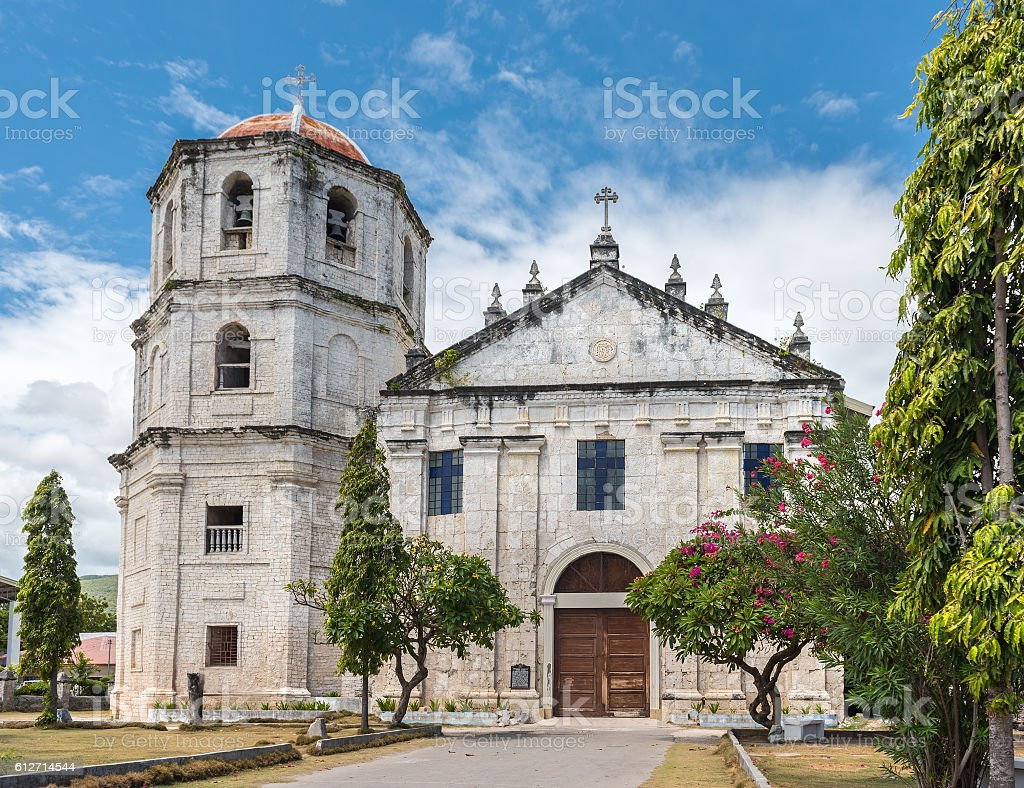 Our Lady of the Immaculate Conception catholic Church at Oslob stock photo