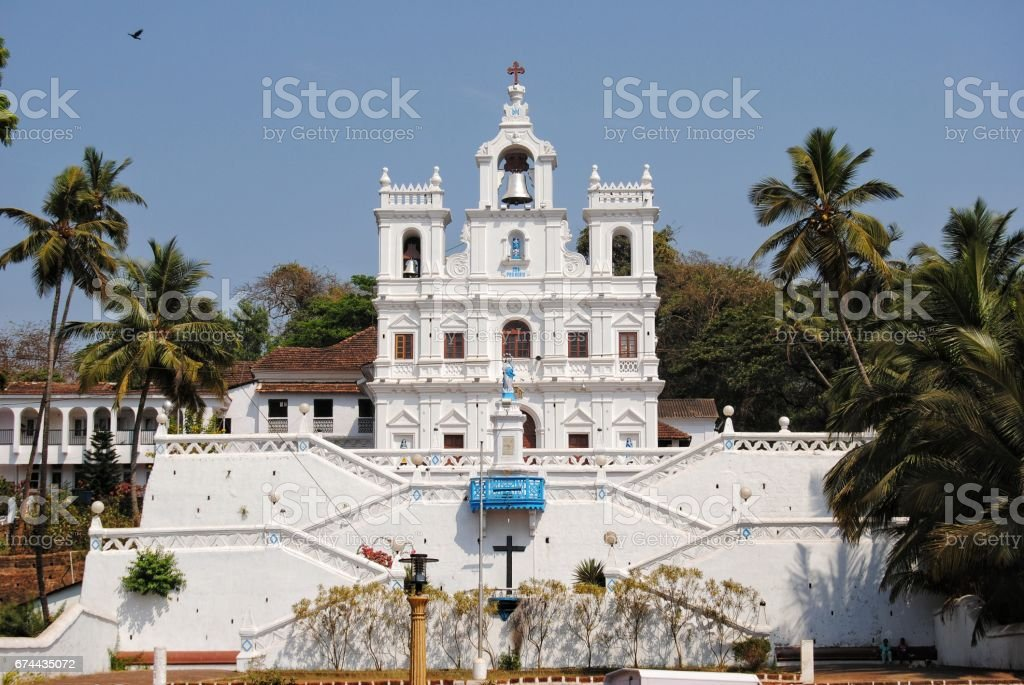 Our Lady of the Immaculate Conception Church, Goa, India stock photo