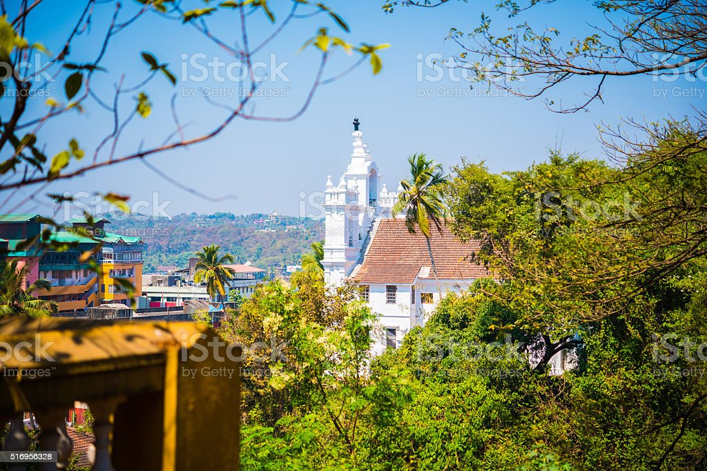 Our Lady of the Immaculate Conception Church in Panjim stock photo
