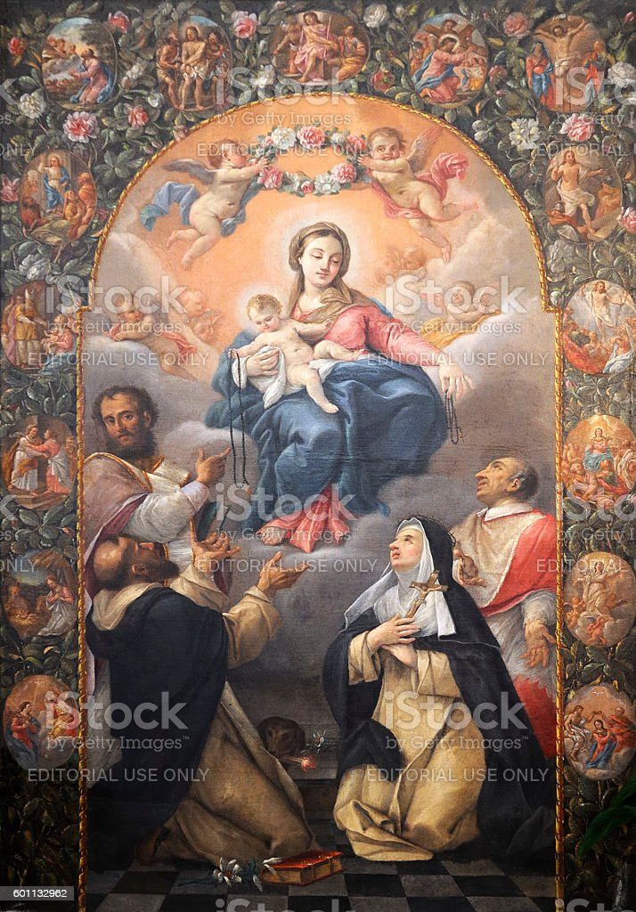 Madonna del Rosario stock photo
