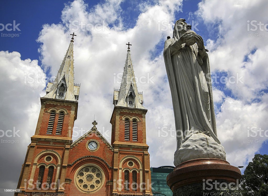 notre dame, Vietnam royalty-free stock photo