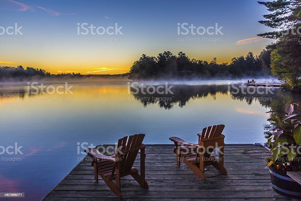 Our Lakeside Lookout stock photo