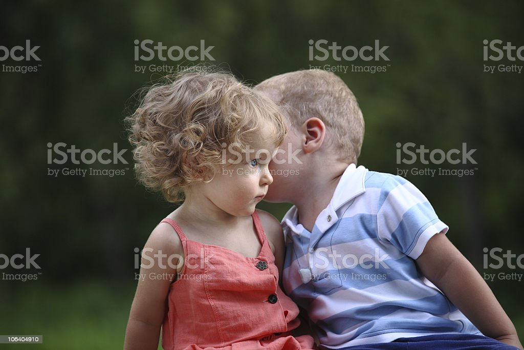 Our little secret royalty-free stock photo