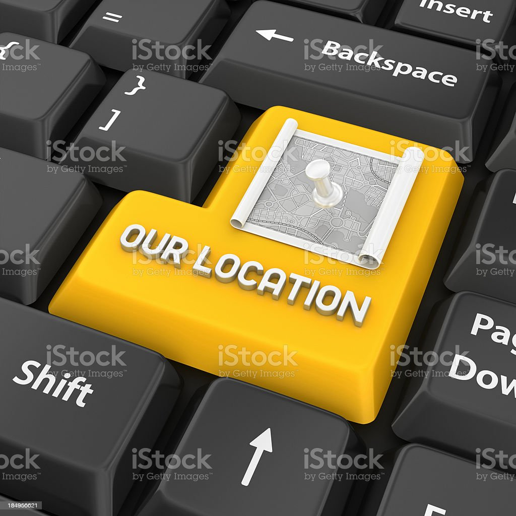 our location enter key royalty-free stock photo