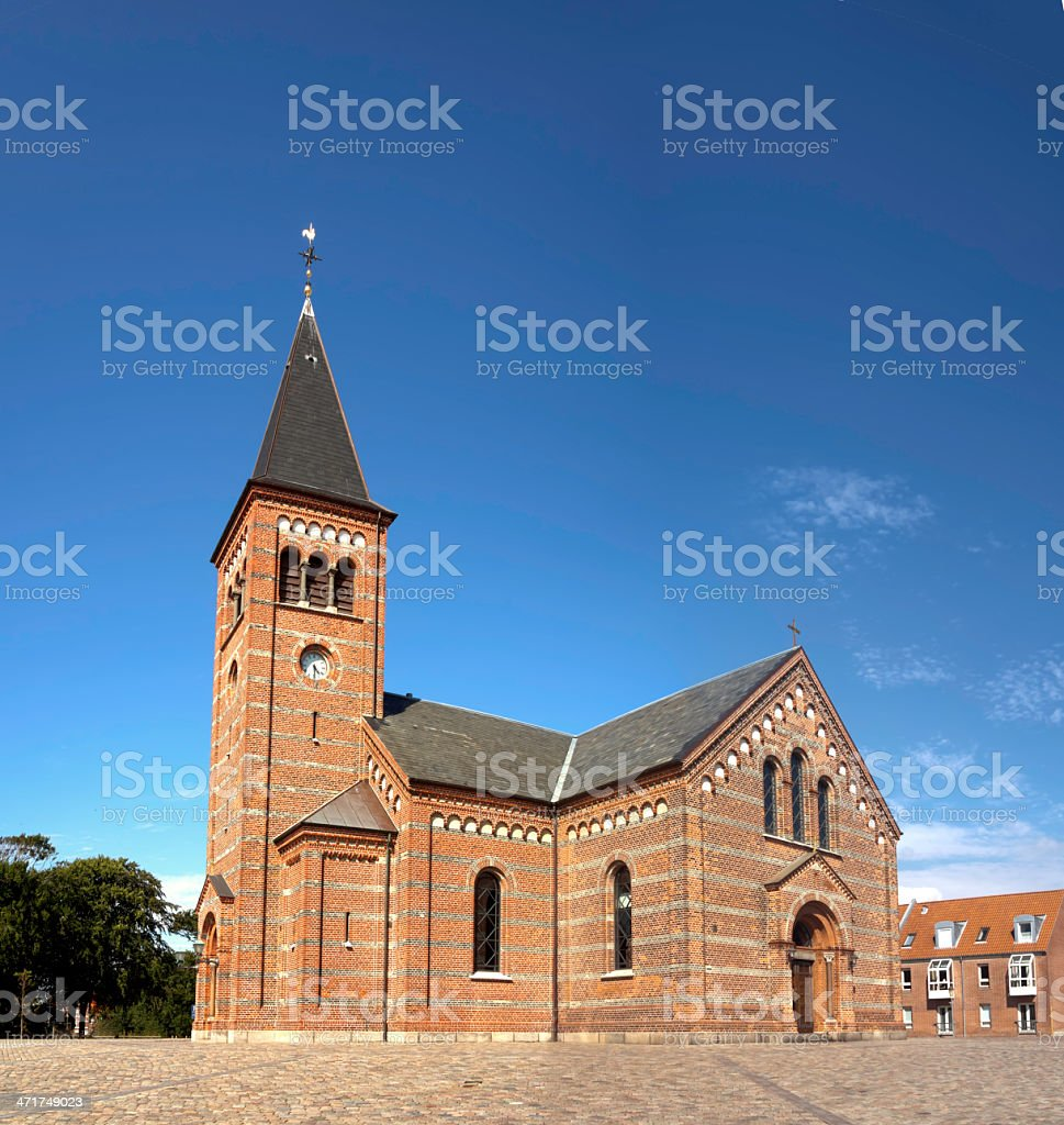 Our Lord's church in Esbjerg, Denmark stock photo