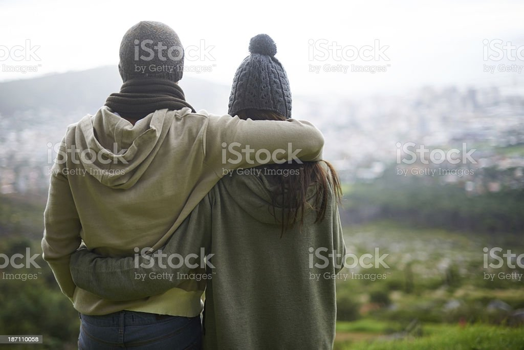 Our love can conquer the world... royalty-free stock photo