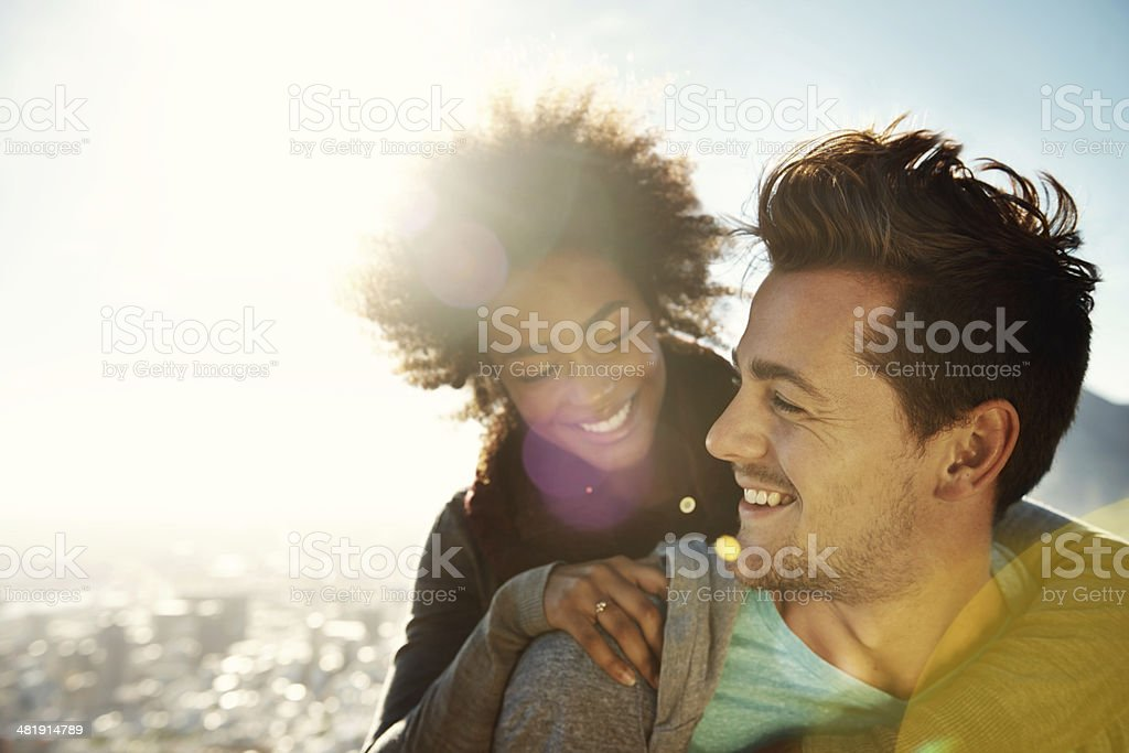 Our love shines brighter than the sun stock photo