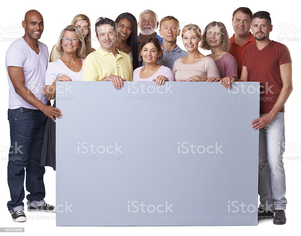 Our message is positivity! stock photo
