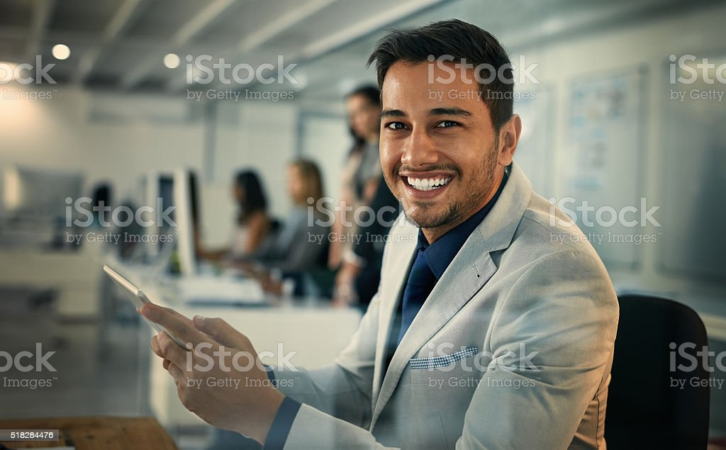Our office uses only the best and latest technology stock photo