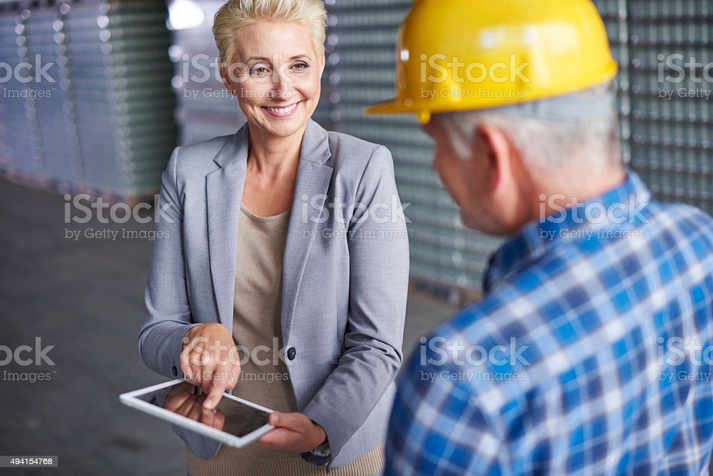 Our online retail grows very fast stock photo