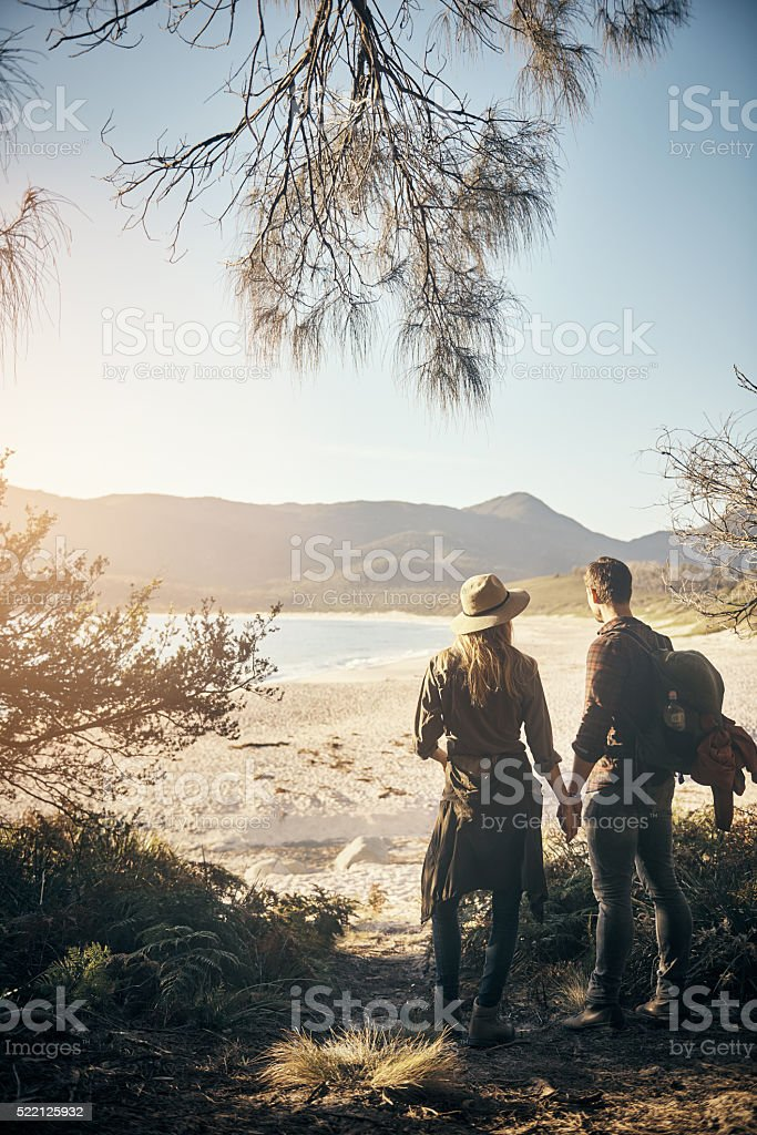 Our own private piece of paradise stock photo