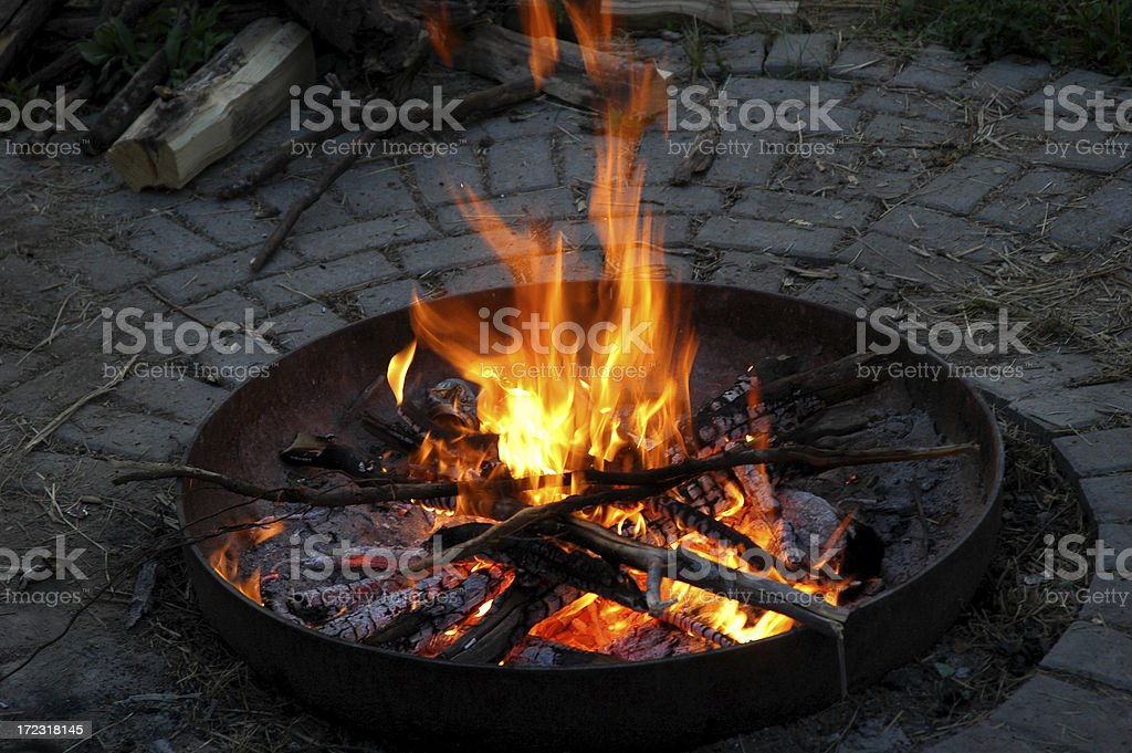 Our Perfect Fire Pit royalty-free stock photo
