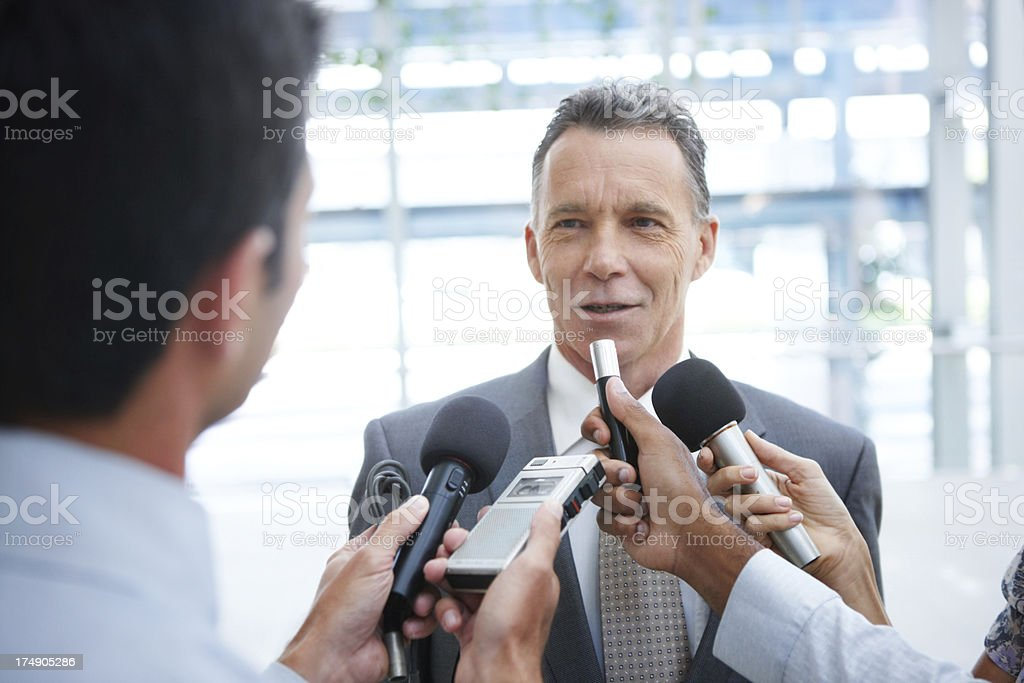 Our share holders will be very pleased royalty-free stock photo