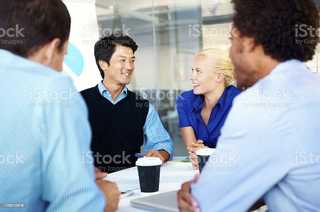 Our skills all compliment each other royalty-free stock photo