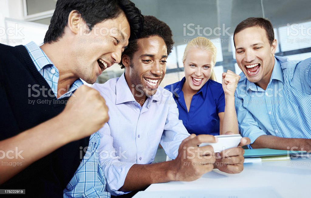 Our team has come out tops! royalty-free stock photo