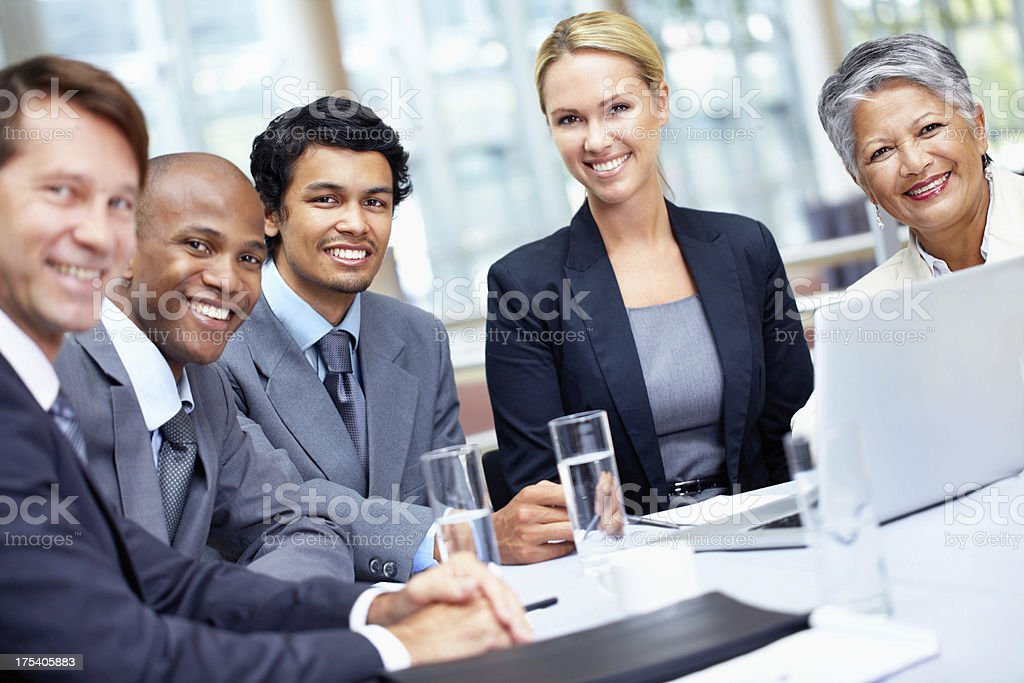 Our team of professionals royalty-free stock photo