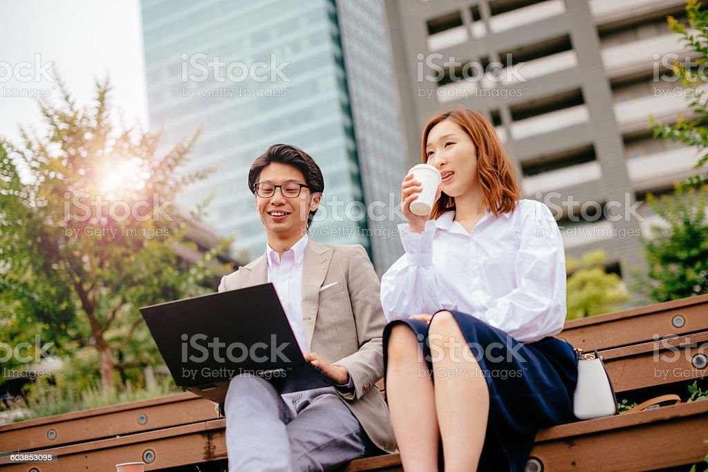 Our teamwork delivers great results stock photo
