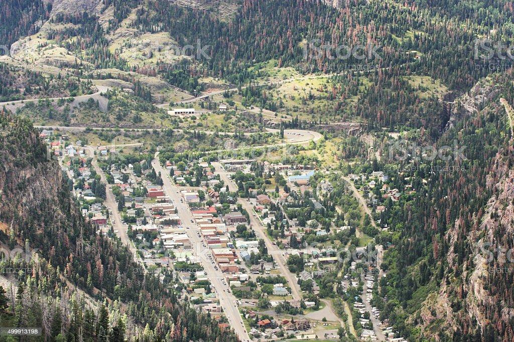 Ouray Colorado Rocky Mountain Town stock photo