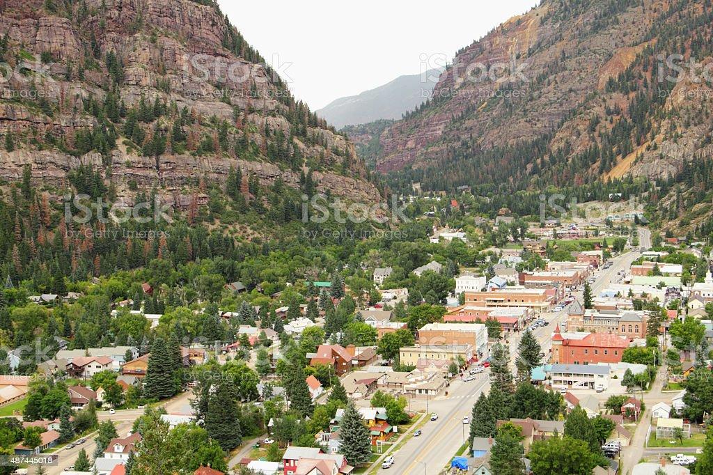 Ouray Colorado Town City stock photo