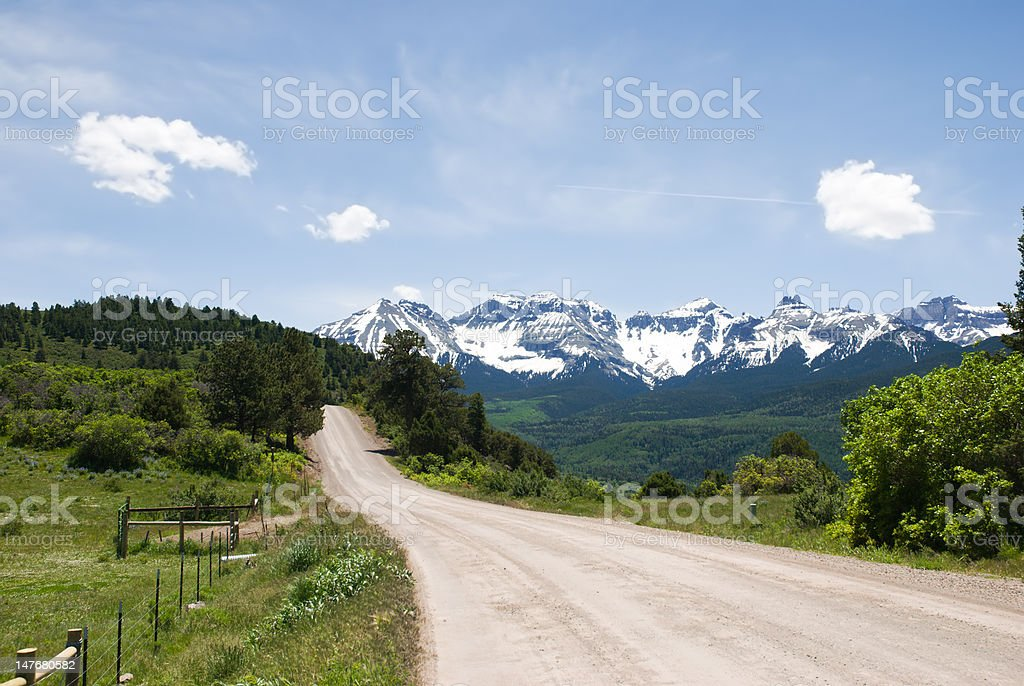 Ouray County Road 5 royalty-free stock photo