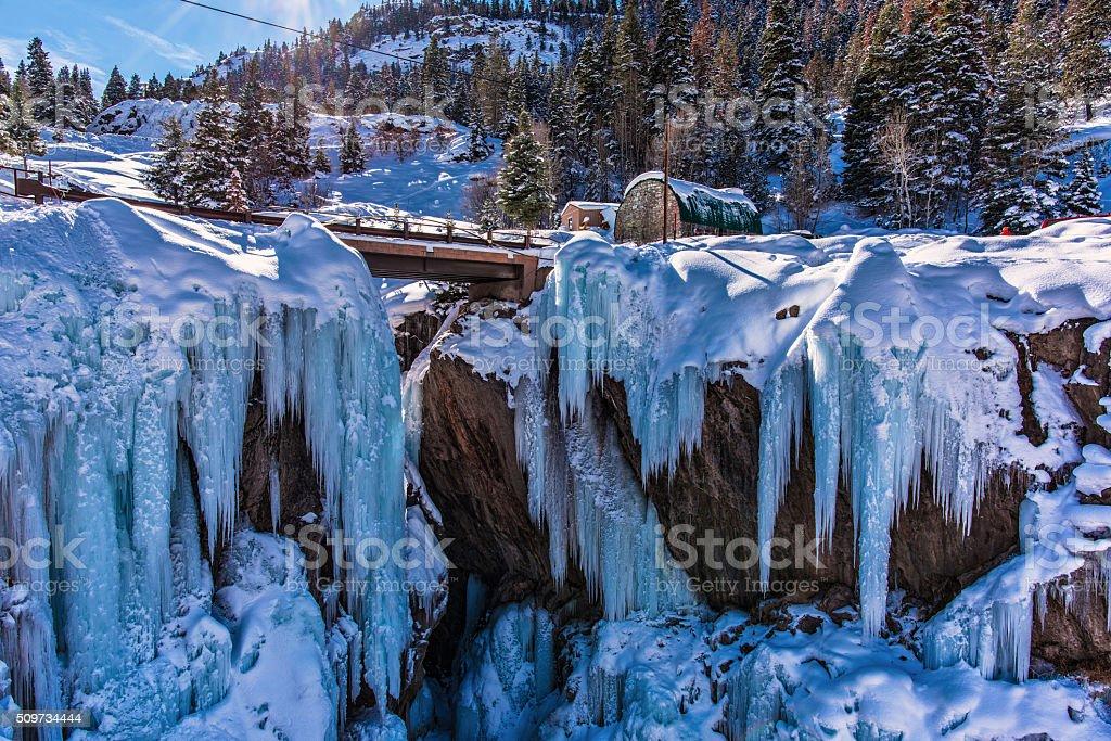 Ouray Ice Park stock photo