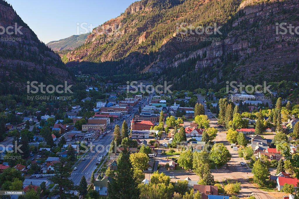 Ouray overlook stock photo