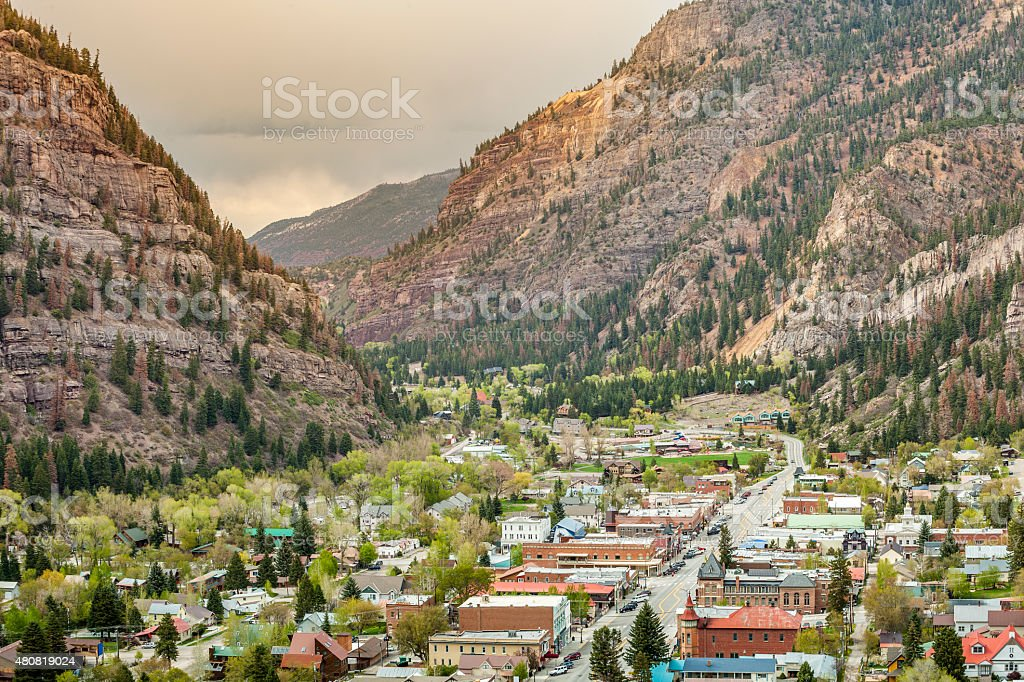 Ouray Panorama stock photo