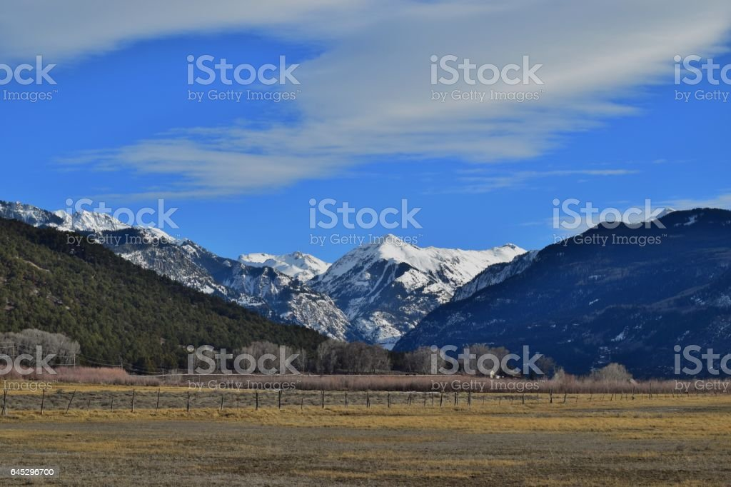 Ouray Valley stock photo