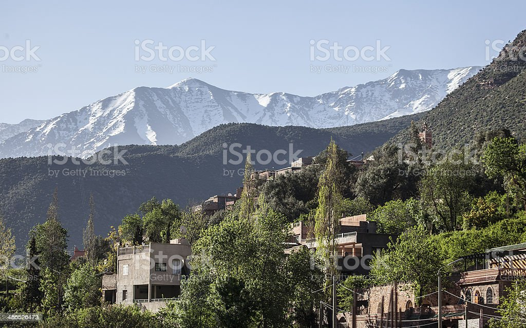 Ourika Valley and High Atlas, Morocco stock photo