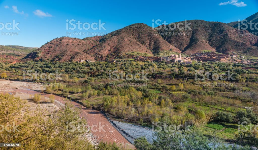 Ourika Valley landscapes, Morocco stock photo