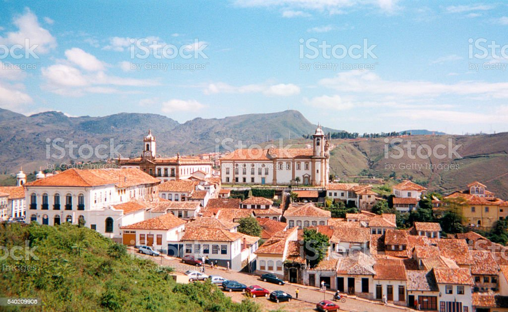 Ouro Preto, Brazil: UNESCO world heritage site stock photo