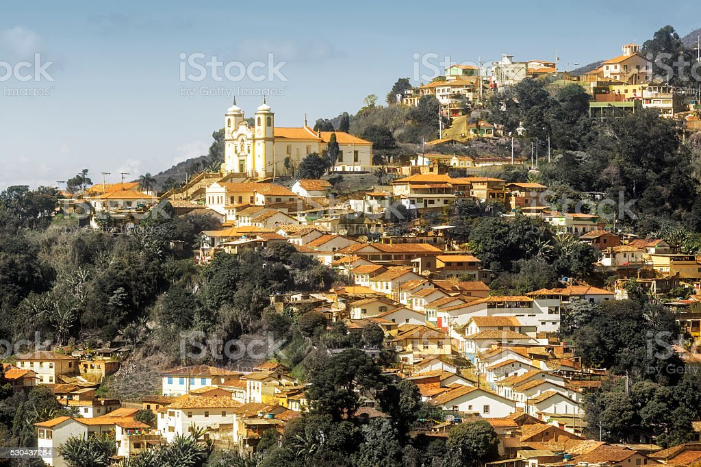 Ouro Preto in Minas Gerais, Brazil stock photo