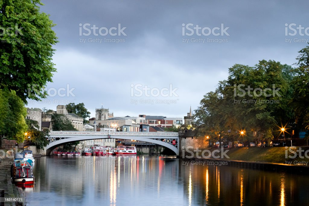 Ouse River in York, England After the Rain stock photo