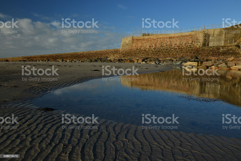 Ousiere slipway,St.Ouen,Jersey, U.K. stock photo