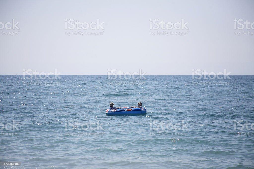 Out at sea royalty-free stock photo