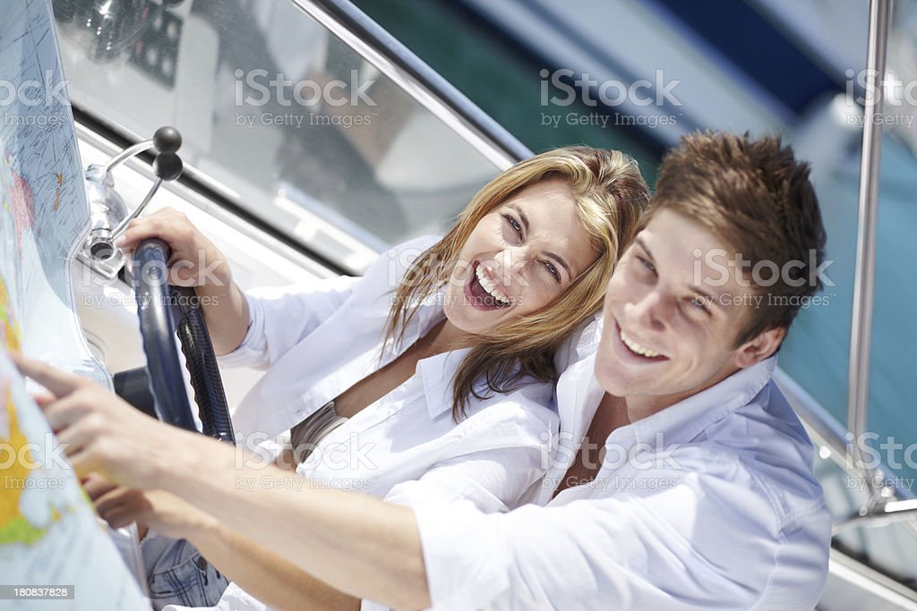 Out boating together royalty-free stock photo