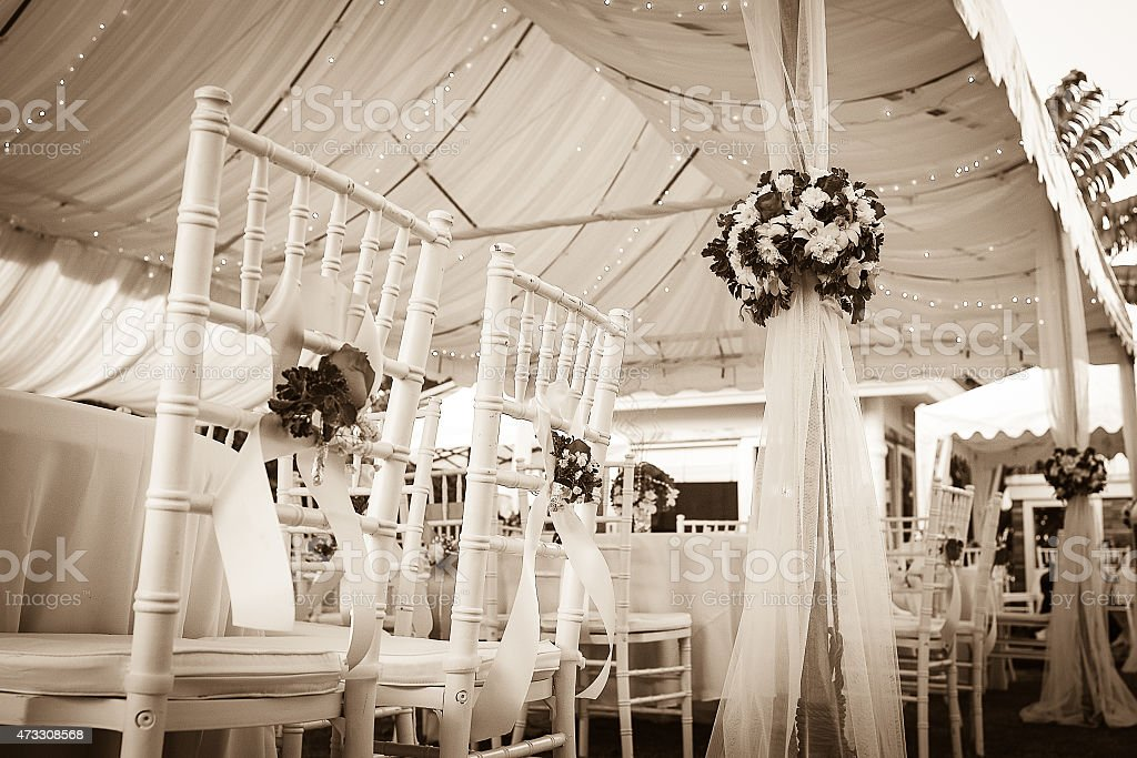 out door wedding decorations. stock photo