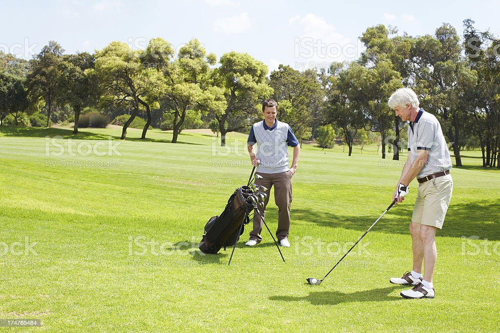 Out for a day of golf royalty-free stock photo