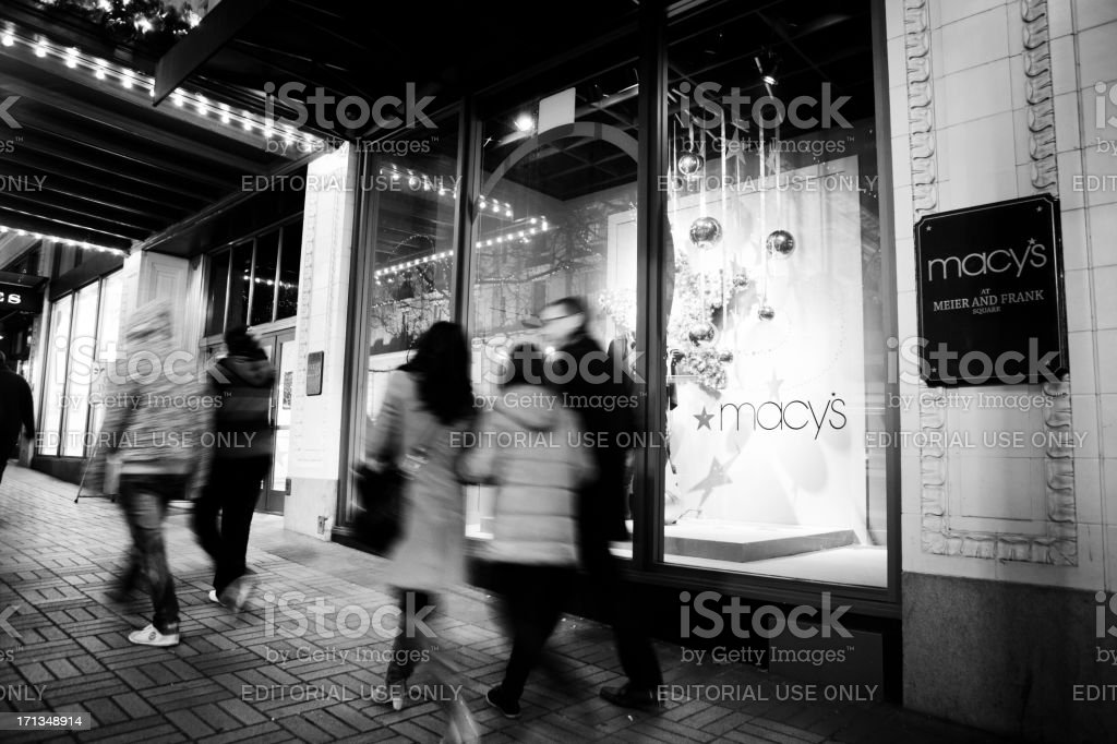 Out for a downtown stroll royalty-free stock photo